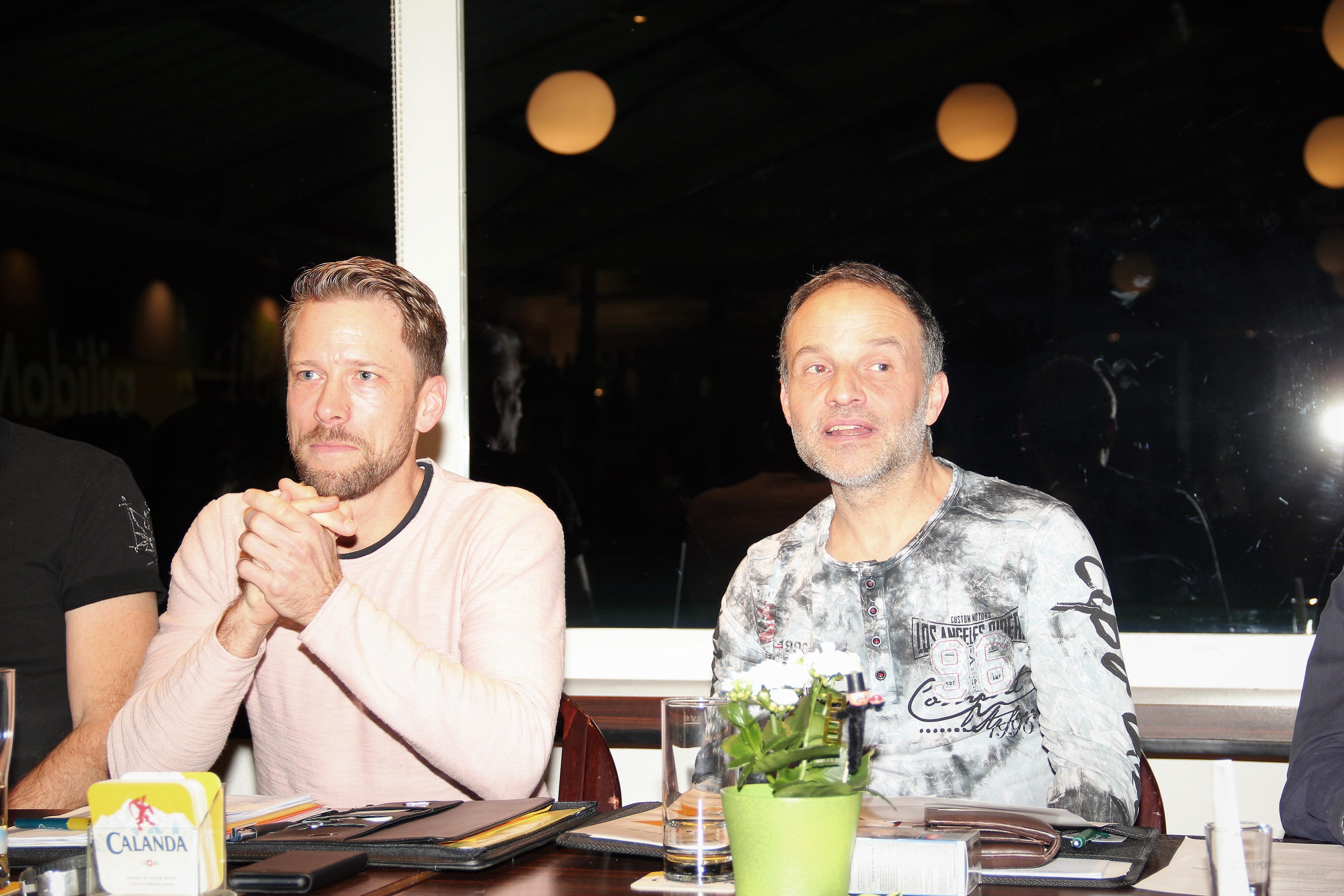Der Präsident, Daniel Lorenz und der scheidende technische Leiter, Michael Lingua
